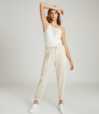 Reiss DARCY SHEER PANEL CAMI White