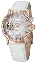 Stuhrling Original Women's 'Vogue' Automatic Stainless Steel and White Leather Dress Watch (Model: 710.03)