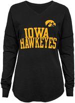 Juniors' Iowa Hawkeyes Split Long-Sleeve Tee