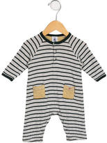 Petit Bateau Boys' Striped Dual Pocket One-Piece