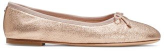 Kate Spade Honey Metallic Leather Ballet Flats