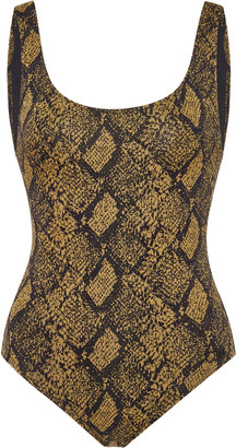 Solid & Striped Anne-Marie Snake-Print Swimsuit