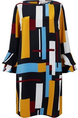 Nougat Yves Block Print Dress