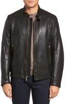 Andrew Marc Men's Boarder Lambskin Leather Moto Jacket
