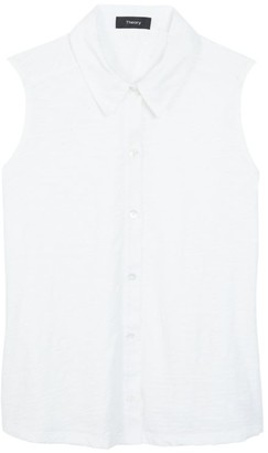 Theory Shrunken Sleeveless Shirt