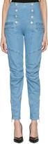 Pierre Balmain Blue Buttoned Skinny Jeans