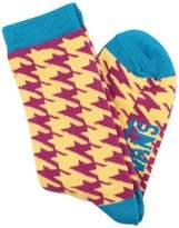Vans Women's Kaley Crew Graphic Socks-Mustard/Purple-7-10