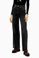 Topshop IDOL Washed Black Flare Skinny Jeans