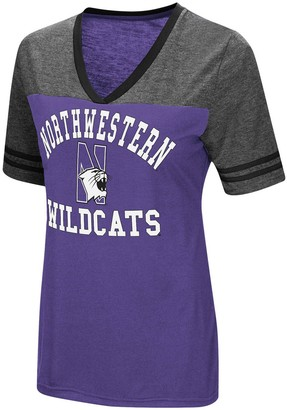 Colosseum Women's Purple Northwestern Wildcats The Whole Package Jersey V-Neck T-Shirt