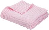 Elegant Baby Pastel Pink Cable-Knit Blanket
