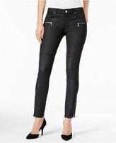 MICHAEL Michael Kors Coated Skinny Moto Jeans