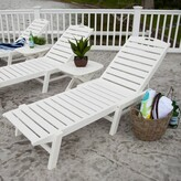 Polywood Nautical Reclining Chaise Lounge Color: White