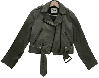 Acne Studios \N Khaki Leather Leather jackets