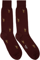 Paul Smith Burgundy Monkey Socks