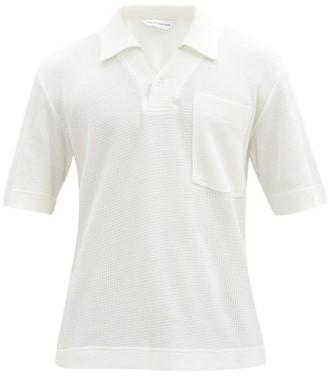 KING & TUCKFIELD Waffle-knit Cotton Polo Shirt - Cream