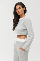 Out From Under Faye Cropped Crew Neck Sweatshirt