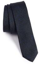 The Kooples Men's Marble Jacquard Silk Skinny Tie