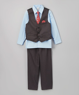 Perry Ellis Charcoal & Blue Button-Up Set - Boys