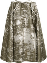 Jil Sander Navy spotted pattern full skirt