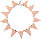 Eddie Borgo Rose gold-plated triangle necklace