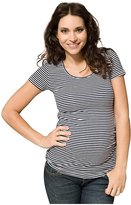 Ripe Maternity Striped Tube Tee - Navy/White-L