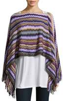 Missoni Multicolored Zig-Zag Poncho