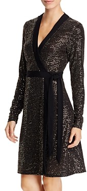 Leota Kara Metallic Faux-Wrap Dress