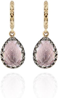 Larkspur & Hawk Lady Jane Small Pear Drop Huggie Earrings, Ballet