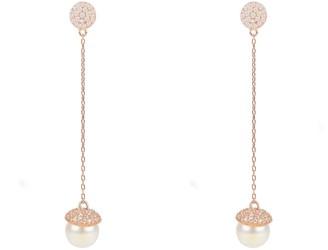 Latelita Pearl Long Drop Earrings Rosegold