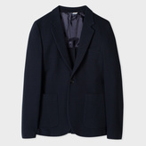 Paul Smith Men's Mid-Fit Navy Textured Cotton-Jersey Blazer