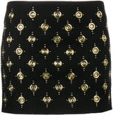 Balmain eyelet embellished mini skirt