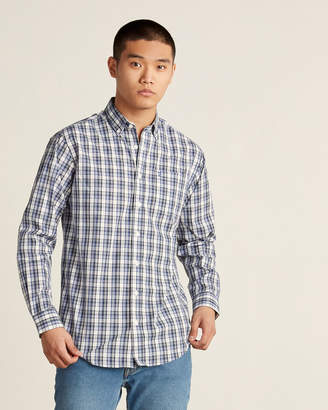Farah Button-Down Plaid Long Sleeve Sport Shirt