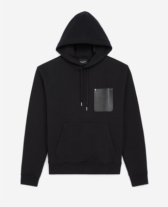The Kooples Black hoodie with breast pocket
