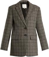 Tibi Alridge oversized checked wool-blend blazer
