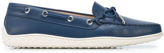 Tod's Lace-Up Leather Loafers