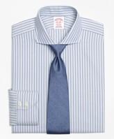 Brooks Brothers Madison Classic-Fit Dress Shirt, Non-Iron Herringbone Alternating Stripe