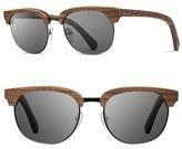 Shwood Men's 'Eugene' 54Mm Wood Sunglasses - Walnut/ Silverwire/ Grey