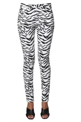 Saint Laurent Animalier Print Skinny Jeans