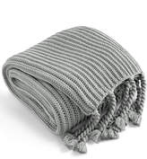 Charter Club LAST ACT! Damask Designs Tassel Throw, Created for Macy's