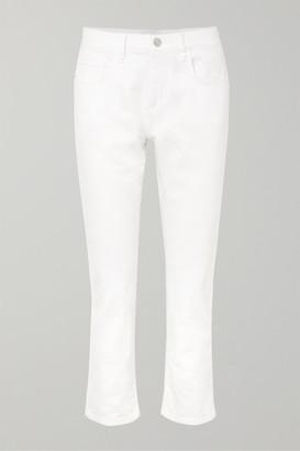 Current/Elliott The Fling Low-rise Slim Boyfriend Jeans - White
