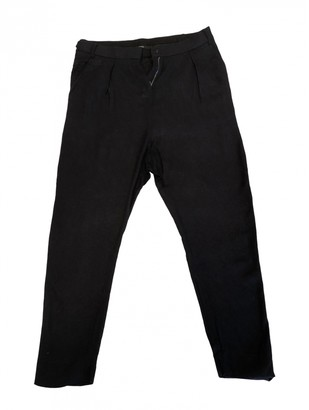 Damir Doma Navy Viscose Trousers