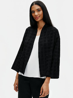 Eileen Fisher Organic Cotton Shadow Square Jacket - XS .