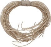 Brunello Cucinelli Glass Bead Wired Wrap Necklace