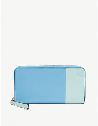 Loewe Rainbow zip around leather wallet