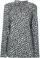 Marni geometric print long sleeve blouse - women - Cotton - 42