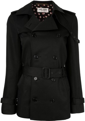 Saint Laurent Belted Short Trench Coat