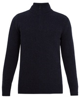 A.P.C. Leisure zip-up wool and cashmere-blend sweater