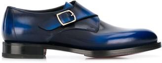 Santoni single monk strap shoes