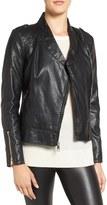 GUESS Petite Women's Faux Leather Moto Jacket