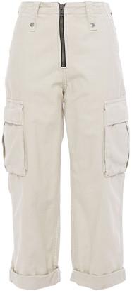 Ksubi Cropped Embroidered Cotton Straight-leg Pants